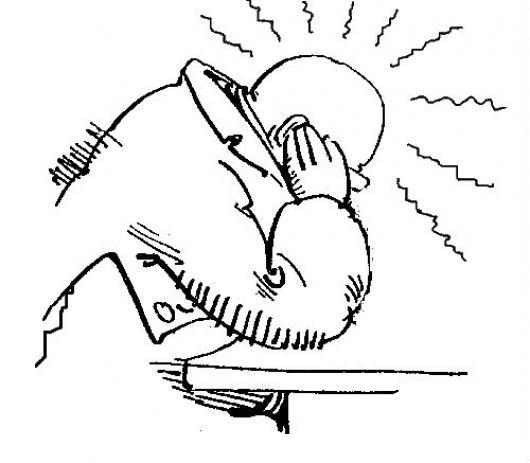 Dolor De Oidos Dibujo De Un Hombre Con Otitis Pacediendo Dolor En