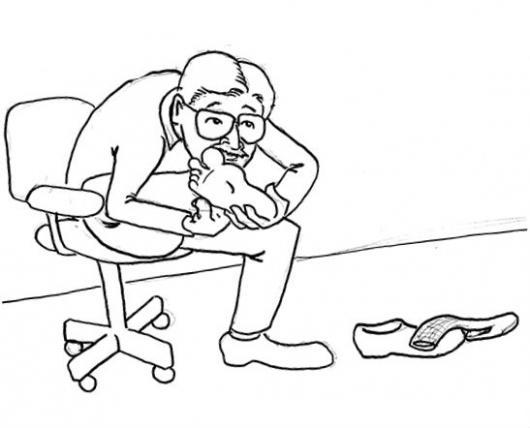 Hongos en los pies dibujo de mal olor en los pies para - Pintar bano con hongos ...