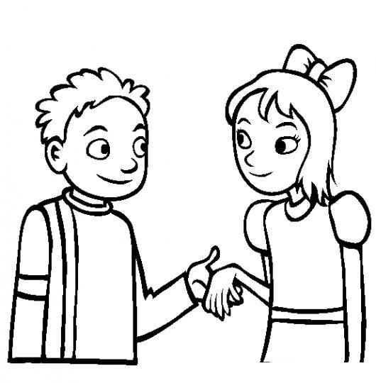 Queres Ser Mi Novia Dibujo De Una Declaracion De Amor Para Pintar Y