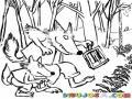 Hijo De Lobo Lobito Sera Dibujo De Un Papa Lobo Con Su Hijo Lobo Para Pintar Y Colorear