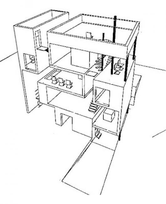 Edificio De Apartamentos De 4 Niveles Para Pintar Y Colorear ...