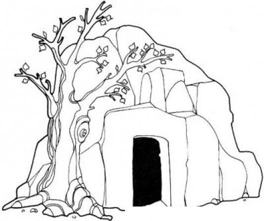 Dibujo De Una Cueva Para Pintar Y Colorear   COLOREAR DIBUJOS ...