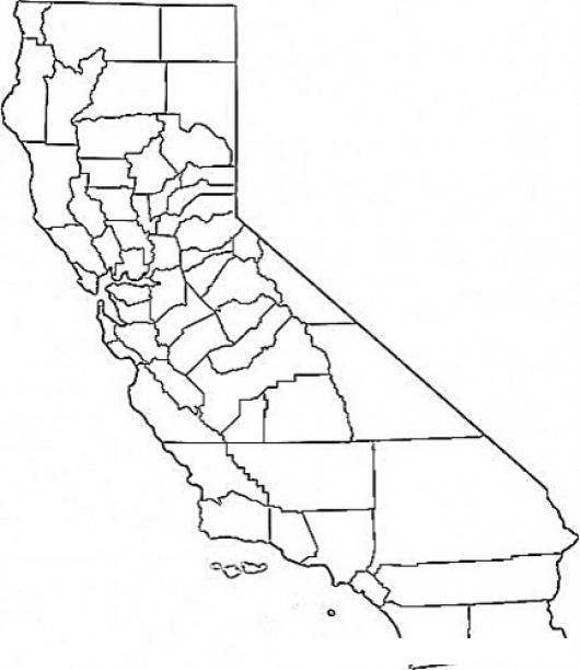 Mapa Del Estado De California Para Pintar Y Colorear | COLOREAR ...