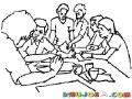 Grupo De Estudio Dibujo De Estudiantes Trabajando En Grupo Para Colorear