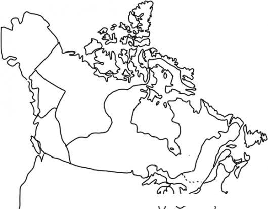 Mapa De Alaska Y Canada Para Pintar Y Colorear | COLOREAR DIBUJOS ...