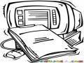 Dibujo De Un Reporte De Computadora Para Pintar Y Colorear