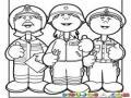 Servidores Publicos Dibujo De Bombero Paramedico Y Policia Para Colorear Y Pintar