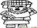 Dibujo Maya De Un Nina Maya Con Un Muneco Para Pintar Y Colorear Dibujo Aztecamaya Mayaazteca Del Baktun13