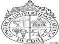 Dibujo Del Logo De La Pontificia Universidad Catolica De Chile Para Pintar Y Colorear Del Campus San Joaquin Ciapep Faceapuc Vicuna Maquena Colocolo Cuico Y Flaite Gambagamba Weon Minas Cachay Cuantico