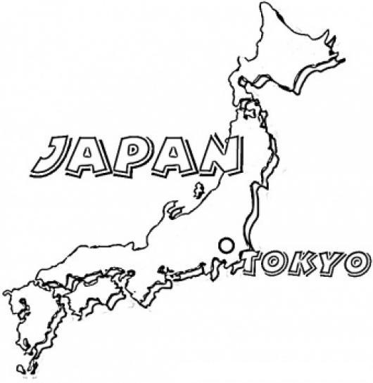 Colorear mapa de Japon | COLOREAR MAPAS | Dibujo del mapa de japon ...