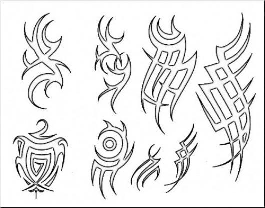Dibujos De Tatuajes De Brazo Para Transferir Calcar Pintar Y ...