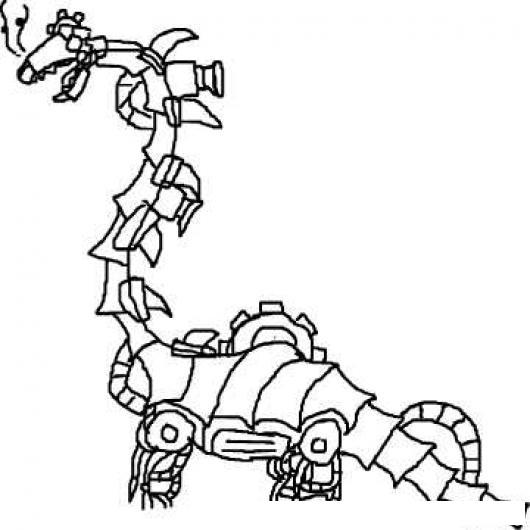Colorear Robot Dragon Dibujo De Robotdragon Dragonrobot Para Pintar