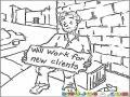 Empresario Sin Ventas Para Pintar Y Colorear Empresario Sin Clientes