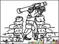 Soldado Con Bazooka Para Pintar Y Colorear Bazuka Militar