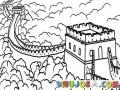 Dibujo De La Muralla China Para Pintar Y Colorear Murallachina