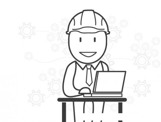 Dibujo De Ingeniero Con Laptop Para Pintar Y Colorear | COLOREAR ...