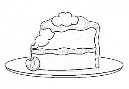 Pastel De Cereza Para Colorear Pastelito De Cerezas Con