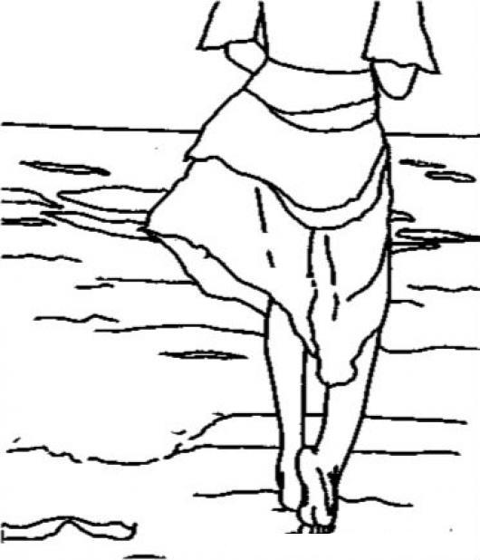 Piesdescalzos Dibujo De Un A Persona Caminando En El
