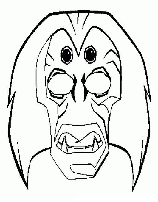 M scara de miedo miedo colouring pages page 3 - Mascara de terror ...