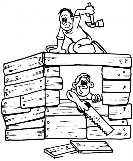 Carpinteros constructores dibujo de dos carpinteros - Presupuesto para pintar una casa ...