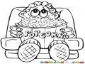 Poporopos popcorn En El Cine Dibujo De Nino Viendo Una Pelicula En El Cine Con Un Bol De Palomitas De Maiz Para Pintar Y Colorear Semillas De Maiz Reventadas
