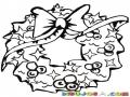Guirnalda Navidena Dibujo De Una Girnalda De Navidad Para Pintar Y Colorear Aro De Pino Adornado Adorno De Nabidad