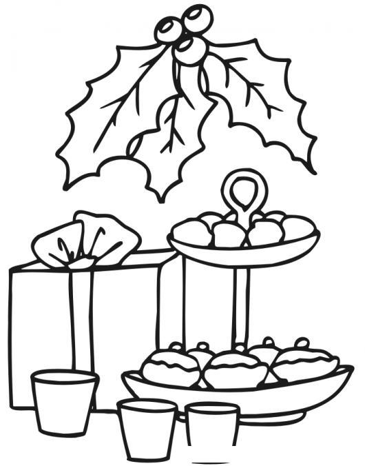 Dibujo De Pastelitos Navidenos Y Un Regalito De Navidad Para