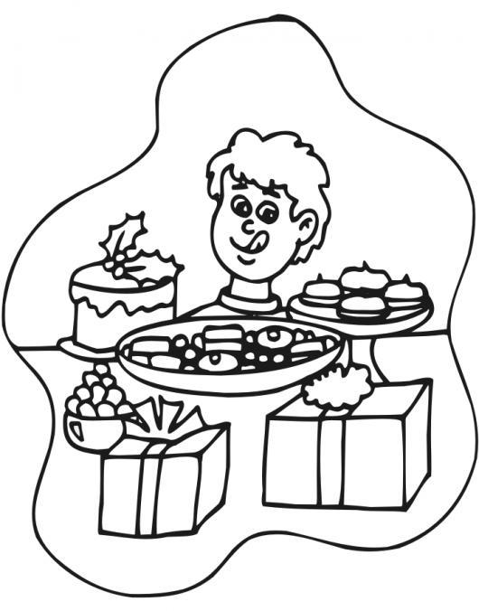 Mesa De Navidad Para Pintar Y Colorear Colorear Dibujos Varios