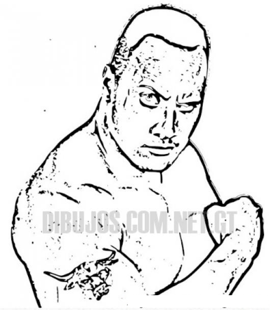 Dwayne The Rock Johnson Colouring Page Colorear Dibujos De