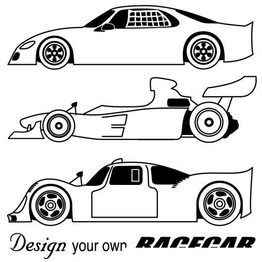 Colorear Carros de Carreras  COLOREAR CARROS  Dibujo de tres