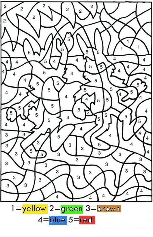 Colorear Por Numeros En Ingles Dibujo Para Pintar Por ...