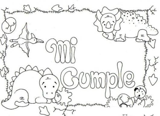 Micumple Dibujo De Una Tarjeta De Cumpleanos Para Imprimir Pintar Y ...