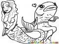 Dibujo De Mujer Con Cuerpo De Pescado Y Pescado Con Cuerpo De Mujer Para Pintar Y Colorear Mujerpescado Y Pescadomujer