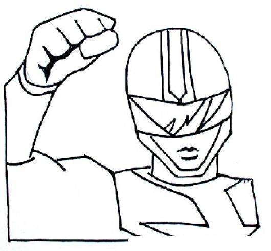 Dibujo De Power Ranger Para Pintar Y Colorear  COLOREAR DIBUJOS