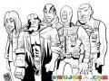 Super Heroes Del Cine Para Pintar Y Colorear Avengers
