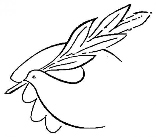 Worksheet. La Firma De La Paz Dibujo De Una Paloma Firmando La Paz Para