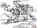 Dibujo De He-man Peleando Contra Skeletor Para Pintar Y Colorear A Heman Y Eskeletor