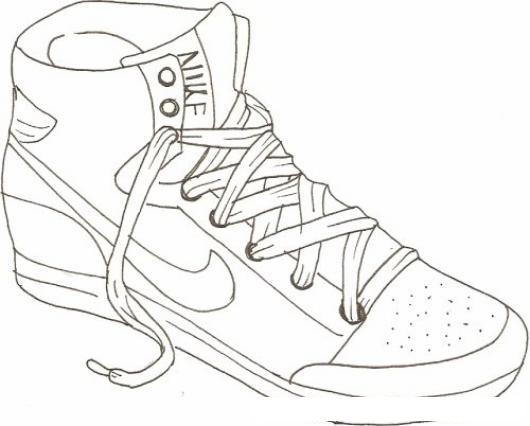 Basquetbol ColorearDibujos Tenis Nike Pintar Y Para De PuTkiOXZ