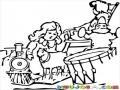 Dibujo De Nina Con Juguetes Para Pintar Y Colorear