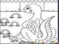 Dibujo De Dinosaurio Jugando Kriket Para Pintar Y Colorear