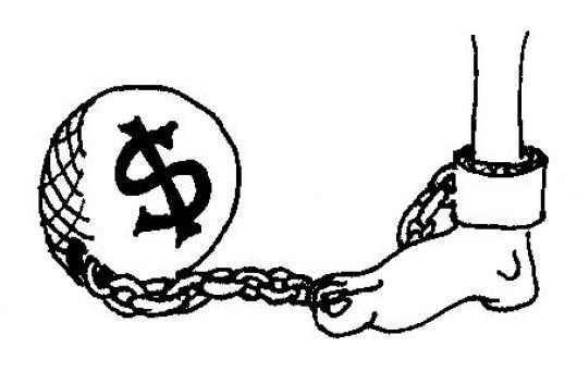 El Dinero Esclaviza Dibujo De Hombre Esclavizado Al Dinero