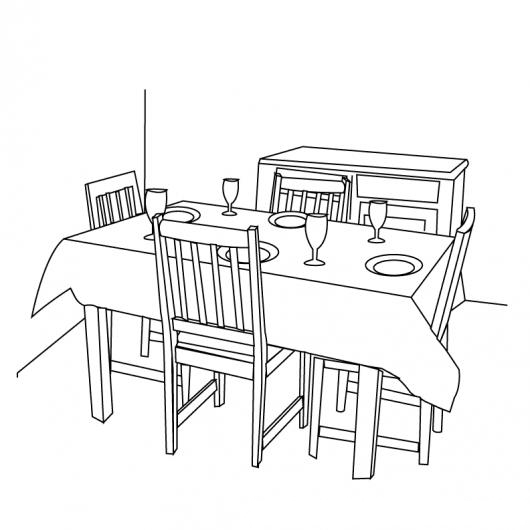 free coloring pages of sala comedor