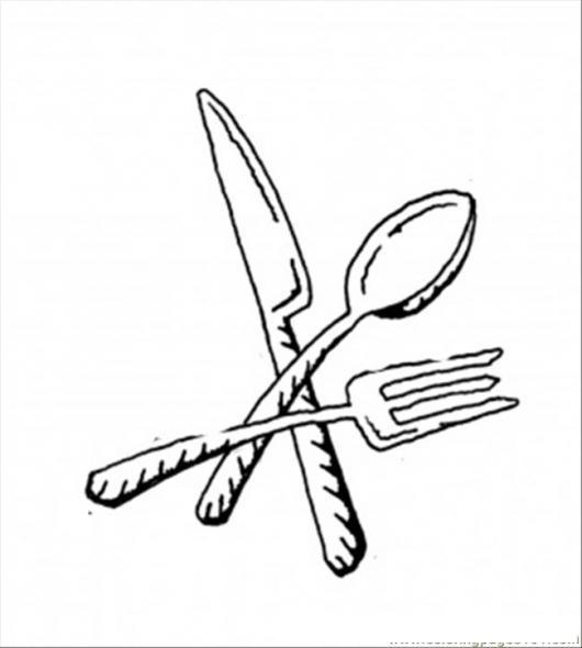 Utensilios cocina dibujo de cuchillo cuchara y tenedor for Utensilios de cocina para pintar