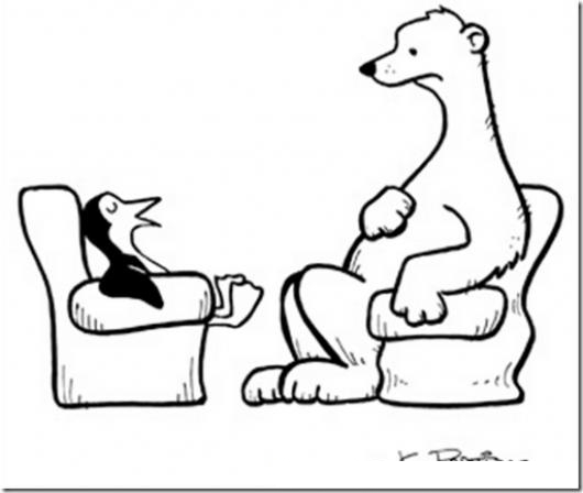 Dibujo De Un Pinguino Hablando Con Un Un Oso Polar Para Pintar Y