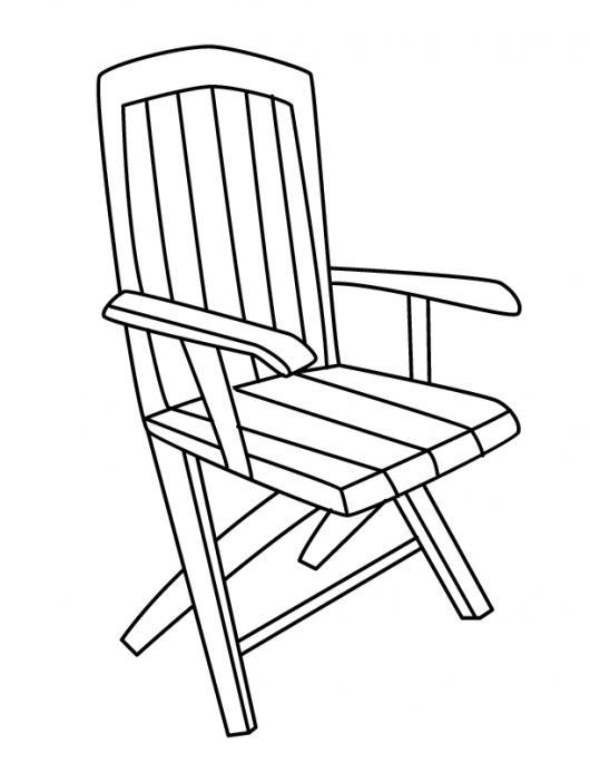 Silla de madera para pintar y colorear colorear dibujos for Silla para dibujar