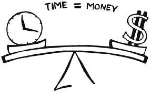 Tiempoesdinero Divijo De Una Balanza Donde Se Mira El Tiempo Es