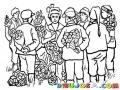 Hombreriega Dibujo De Mujer Con Muchos Pretendientes Y Enamorados Dandole Rosas Para Pintar Y Colorear Mujer Con Muchas Opciones Donajuana Tenoria