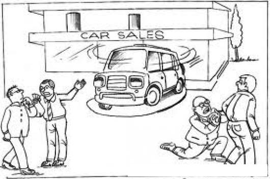 Dibujo De Vendedores De Carros Con Gran Necesidad De Vender Para ...