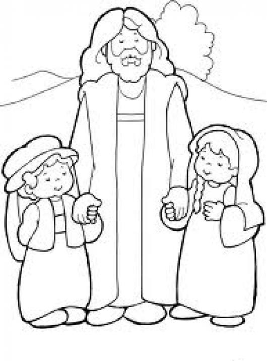 Cristoamaalosinos Dibujo Cristiano De Jesus Con Dos Ninos Para ...