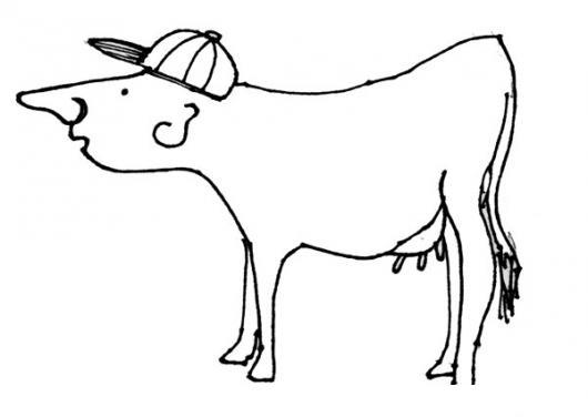 Hombrevaca Vacahombre Dibujo De Un Hombre Con Cuerpo De Vaca Para